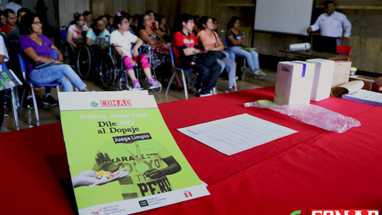 Deportistas paralímpicos se unieron a la lucha antidopaje