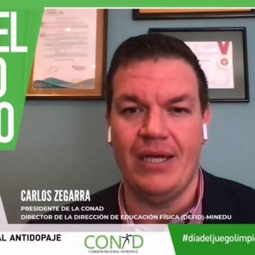 """Mensaje del Presidente de la CONAD, Sr. Carlos Zegarra, por el """"Día del Juego Limpio"""""""